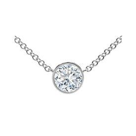 フォーエバーマーク レディース ネックレス・チョーカー・ペンダントトップ アクセサリー Tribute Collection Diamond (1/2 ct. t.w.) Necklace with Mill-Grain in 18k Yellow, White and Rose Gold White Gold