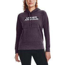 アンダーアーマー レディース パーカー・スウェットシャツ アウター Women's Logo Hoodie Pixel Purple