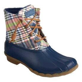 トップサイダー レディース スニーカー シューズ Saltwater Duck Boot Navy/Kick Back Plaid Textile