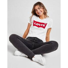 リーバイス レディース Tシャツ トップス Levis Batwing T-Shirt white