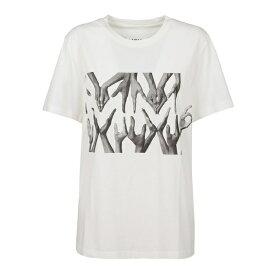 マルタンマルジェラ レディース カットソー トップス White Cotton T-shirt -