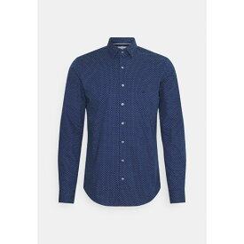 カルバン クライン テイラード メンズ シャツ トップス DOT EASY CARE SLIM SHIRT - Formal shirt - navy jtop0139