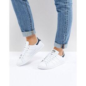 アディダスオリジナルス レディース スニーカー シューズ adidas Originals Stan Smith sneakers in white and navy Running white