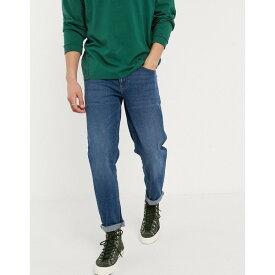 エイソス メンズ デニムパンツ ボトムス ASOS DESIGN stretch tapered jeans in dark wash blue Dark wash blue