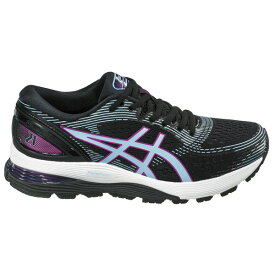 アシックス レディース ランニング スポーツ ASICS Women's Gel-Nimbus 21 Running Shoes Black/Purple/Blue