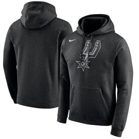 ナイキ メンズ パーカー・スウェットシャツ アウター San Antonio Spurs Nike Logo Club Hoodie Black