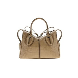 トッズ レディース トートバッグ バッグ Tod's Mini Bag Tod's D Mini Bag In Croc Print Leather With Shoulder Strap powder