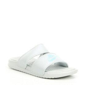 ナイキ レディース サンダル シューズ Benassi Duo Ultra Slide Sandals Pure Platinum/Spruce Aura