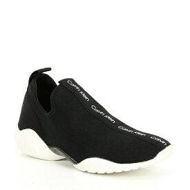 カルバンクライン レディース スニーカー シューズ Lura Logo Slip Ons Black/White