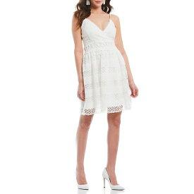 ゲス レディース ワンピース トップス Lace V-Neck A-Line Dress Ivory