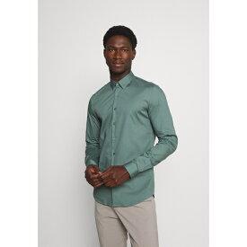 カルバン クライン テイラード メンズ シャツ トップス LOGO STRETCH EXTRA SLIM - Formal shirt - balsam green