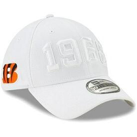 ニューエラ メンズ 帽子 アクセサリー Cincinnati Bengals New Era 2019 NFL Sideline Color Rush 39THIRTY Flex Hat White