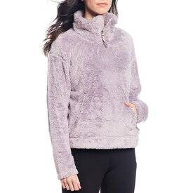 ノースフェイス レディース コート アウター Quarter Zip Faux Furry Fleece Pullover Ashen Purple