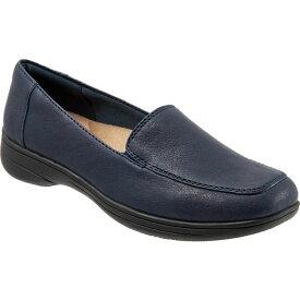 トロッターズ レディース スニーカー シューズ Women's Trotters Jacob Loafer Navy Nappa Leather