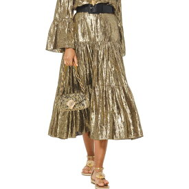 マイケルコース レディース スカート ボトムス Michael Kors Collection Silk-Blend Skirt gold