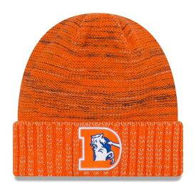 ニューエラ メンズ 帽子 アクセサリー Denver Broncos New Era 2017 Color Rush Knit Hat Orange