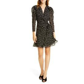 レベッカテイラー レディース ワンピース トップス Rebecca Taylor Long Sleeve Dot Dress Black