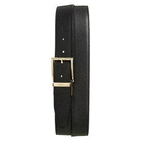 バリー メンズ ベルト アクセサリー Bally Astor Reversible Leather Belt Black