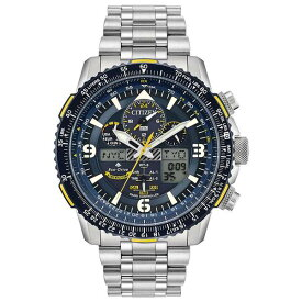 シチズン レディース 腕時計 アクセサリー Eco-Drive Men's Analog-Digital Promaster Blue Angels Skyhawk A-T Stainless Steel Bracelet Watch 46mm Silver