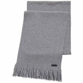 ヒューゴボス メンズ マフラー・ストール・スカーフ アクセサリー BOSS Men's Medeo Raschel-Knit Scarf Medium Grey