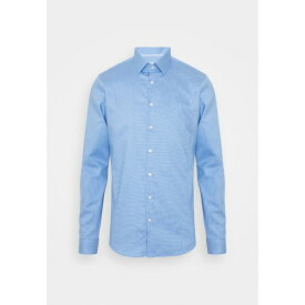 カルバン クライン テイラード メンズ シャツ トップス STRUCTURE SLIM - Formal shirt - light blue kpny0106