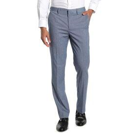 """イングリッシュランドリー メンズ カジュアルパンツ ボトムス Sharkskin Flat Front Suit Separates Pants - 30-32"""" Inseam RIVER BLUE"""