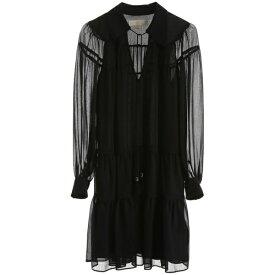 マイケルコース レディース ワンピース トップス MICHAEL Michael Kors Ruffled Dress BLACKBlack