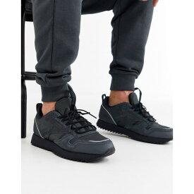 リーボック メンズ スニーカー シューズ Reebok classic leather sneakers trail edition black Bk1 - black 1