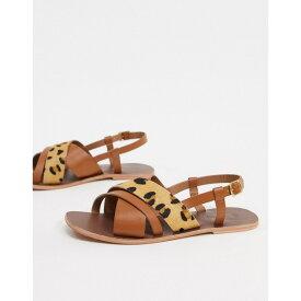 ウエアハウス レディース サンダル シューズ Warehouse multi strap animal sandals Animal