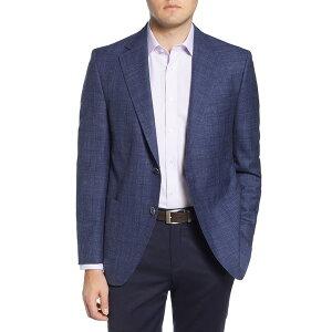 ピーター・ミラー メンズ ジャケット&ブルゾン アウター Classic Fit Plaid Wool Sport Coat NAVY
