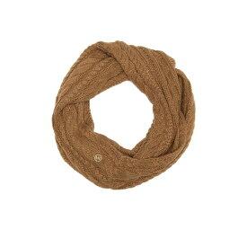 マイケルコース レディース マフラー・ストール・スカーフ アクセサリー French Cable Knit Infinity Scarf DARK CAMEL