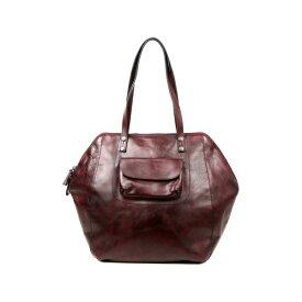 オールドトレンド レディース トートバッグ バッグ Clam Bay Leather Tote Bag RUSTY RED
