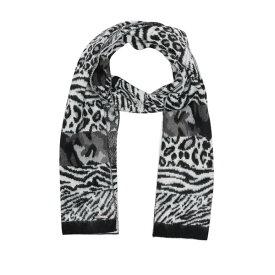 マイケルコース レディース マフラー・ストール・スカーフ アクセサリー Brushed Patchwork Animal Print Scarf BLACK