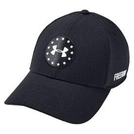 アンダーアーマー メンズ 帽子 アクセサリー Under Armour Men's Jordan Spieth Memorial Day Golf Hat Black/White