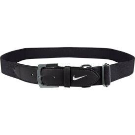 ナイキ メンズ 野球 スポーツ Nike Adult Baseball Belt 2.0 Black/White