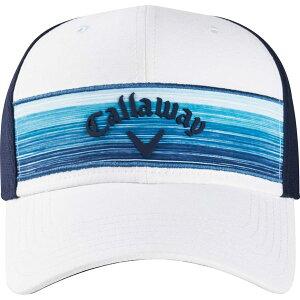 キャラウェイ メンズ 帽子 アクセサリー Callaway Men's 2020 Stripe Mesh Golf Hat White/Blue