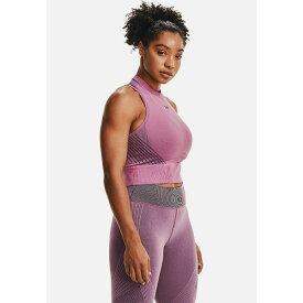 アンダーアーマー レディース シャツ トップス RUSH SEAMLESS CROP - Top - polaris purple lqub01a0