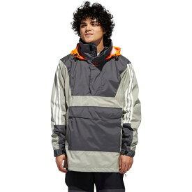アディダス メンズ スノーボード スポーツ Anorak 10K Jacket - Men's Grey Six/Feather Grey/Signal Orange