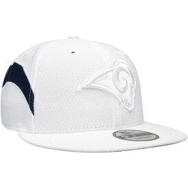 ニューエラ メンズ 帽子 アクセサリー Los Angeles Rams New Era Kickoff Color Rush 9FIFTY Adjustable Hat White