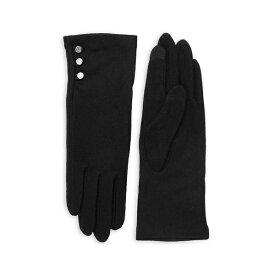 ラルフローレン レディース 手袋 アクセサリー Wool-Cashmere Blend Button Gloves Black