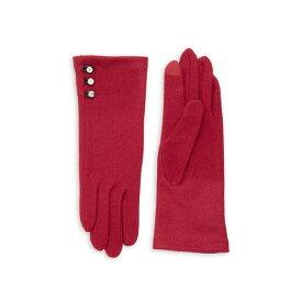 ラルフローレン レディース 手袋 アクセサリー Wool-Cashmere Blend Button Gloves Claret