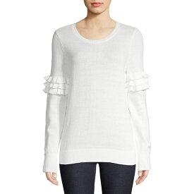 マイケルコース レディース ニット&セーター アウター Ruffle Sleeve Sweater White