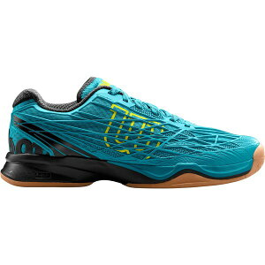 ウィルソン メンズ テニス スポーツ Wilson Men's Kaos Indoor Tennis Shoes Black/Blue