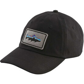 パタゴニア メンズ 帽子 アクセサリー Patagonia Men's Fitz Roy Trout Patch Trad Cap Black