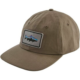 パタゴニア メンズ 帽子 アクセサリー Patagonia Men's Fitz Roy Trout Patch Trad Cap BurnieBrown