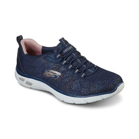 スケッチャーズ レディース スニーカー シューズ Women's Relaxed Fit - Empire D'Lux - Charming Grace Athletic Walking Sneakers from Finish Line Navy, Rose Gold