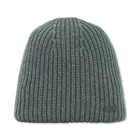 ヒューゴボス メンズ 帽子 アクセサリー BOSS Men's Malloci Ribbed Beanie Hat Open Green