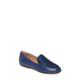 フィットフロップ レディース スリッポン・ローファー シューズ Lena Crystal Embellished Loafer Aurora Blue Leather