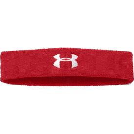 アンダーアーマー レディース ヘアアクセサリー アクセサリー Under Armour Performance Headband Red/White