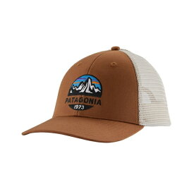 パタゴニア メンズ 帽子 アクセサリー Patagonia Men's Fitz Roy Scope LoPro Trucker Hat EARTHWORMBROWN